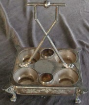 Beautiful Antique Silver Plate Footed Condiment Stand - GORGEOUS DETAIL ... - $89.09