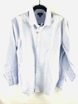 NEW J CREW Ludlow Button Down Mens Dress Shirt Blue Cotton Size 16/ - $12.62
