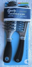 Black Grip Goody Value Pack Vent Hair Brush & Detangling Comb Set Detang... - $14.00