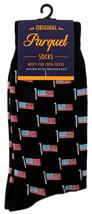 American Flag Socks Mens Novelty Crew Black Casual Cotton Blend Patrioti... - $12.95