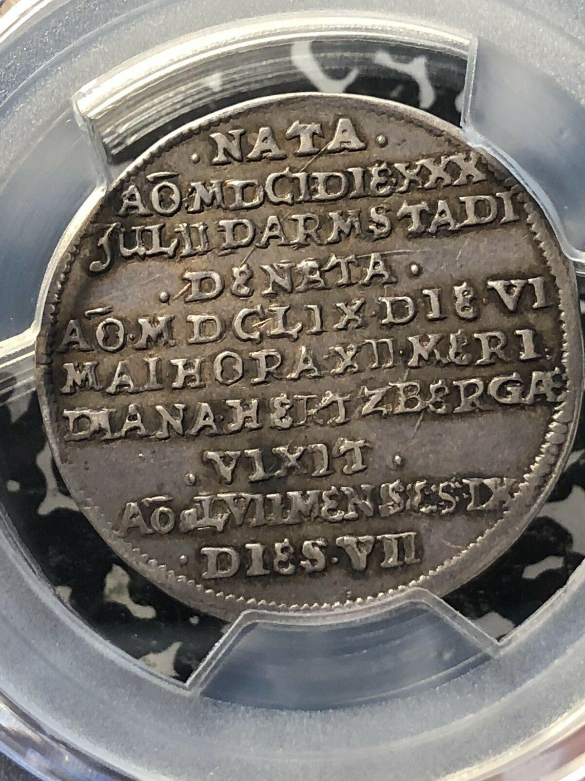 1659-hs Germania Brunswick-Luneburg 1/8 Thaler PCGS Xf40 Lotto #G015 Ann