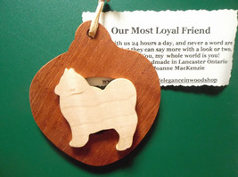 American Eskimo Dog Ornament personalized with your dog's name - $12.00