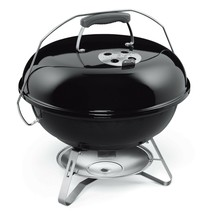 Outdoor Charcoal Grill Porcelain Bowl w/ Dome Lid Camping Barbecue Cooki... - $96.03