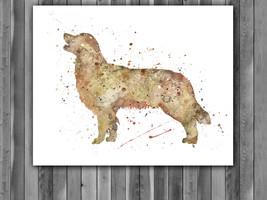 Golden Retriever Watercolor Print, Golden Retriever Art, Golden Retrieve... - $13.50+