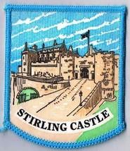 "Stirling Castle Scotland Town Patch Handpainted Felt Backing 2.5"" x 3"" - $11.39"