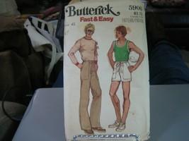 Butterick 5906 Mens Tank Top, T-Shirt, Pants & Shorts Pattern - Size 42 ... - $12.86