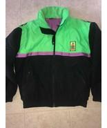Ocean Pacific ~ Vtg Mens Black Neon Green Coat Jacket Xtreme Air 1980's ... - $29.44