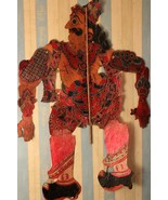 Collectible 1900s shadow puppet leather made panda character traditional... - $855.33
