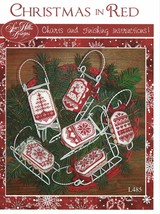 Christmas In Red sleds cross stitch chart Sue Hillis Designs  - $10.80
