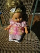 """Little Mommy Blonde Girl Doll 14"""" Cloth Body White Legs  Mattel 2011 - $9.85"""