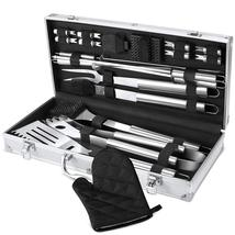 BBQ Grill Tool Set, 21-Piece Heavy Duty Stainless Steel Grilling Utensil... - $41.90