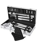 BBQ Grill Tool Set, 21-Piece Heavy Duty Stainless Steel Grilling Utensil... - $46.18