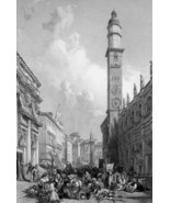 ITALY View in Vicenza - 1864 Fine Quality Print Engraving - $58.50