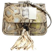 GUCCI Bamboo Daily Python Flap Shoulder Bag - $2,069.10