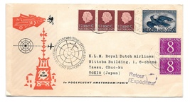 Netherlands KLM First Polar Flight Amsterdam Tokio 1958 Poolvlucht 374 343a C12 - $6.89