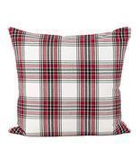 Fennco Styles Tartan Plaid Pattern Traditional Cotton Down Filled Throw ... - £28.27 GBP