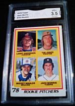 1978 Topps Jack Morris GMA Graded 3.5 VG+ Rookie Baseball Card 703 - $9.99