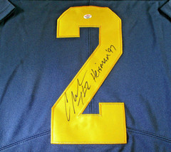 CHARLES WOODSON / AUTOGRAPHED MICHIGAN WOLVERINES BIG TEN PRO STYLE JERSEY / COA image 4