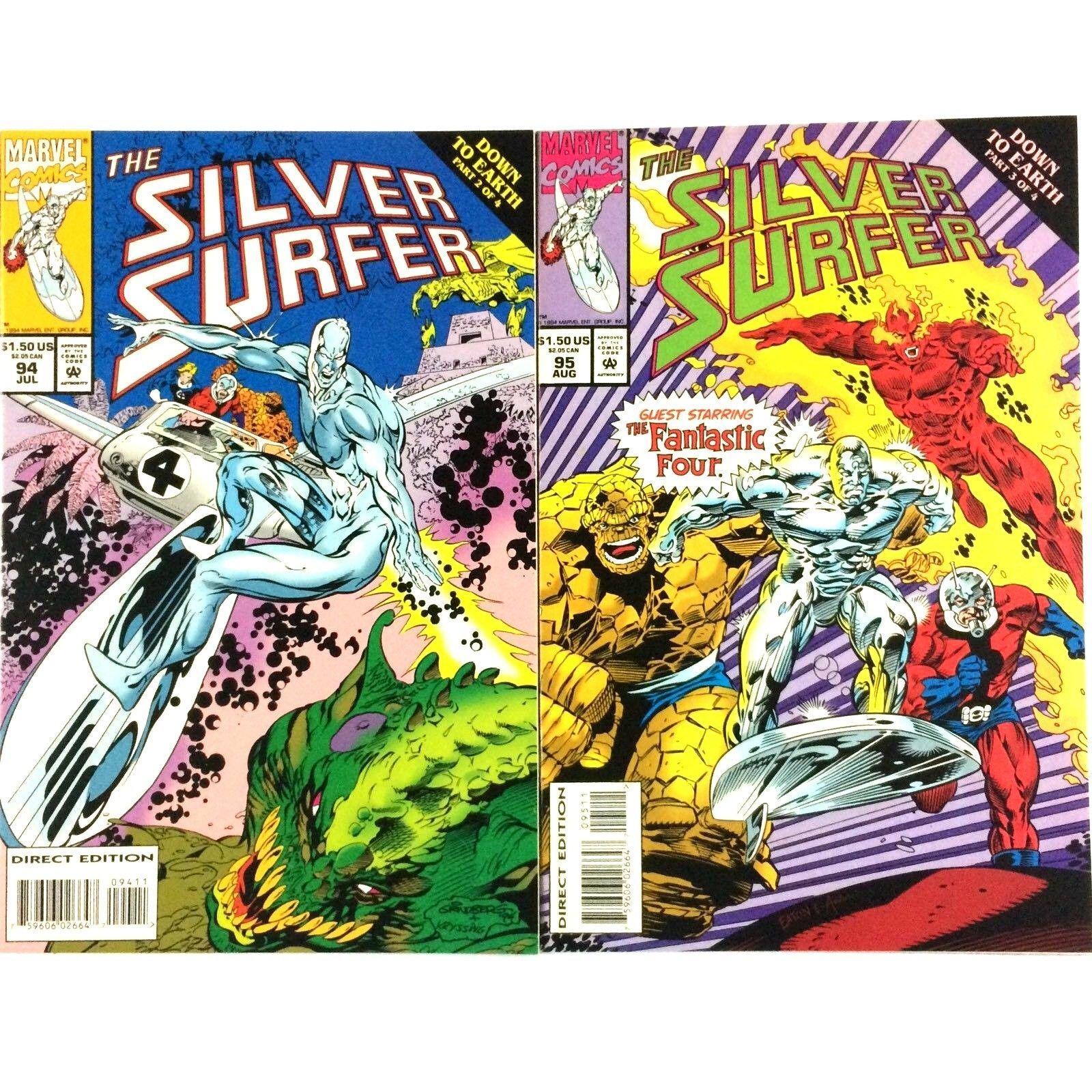 Silver Surfer Comic Book Lot 15 Issues VF Fantastic Four Hulk Ant-Man Thor