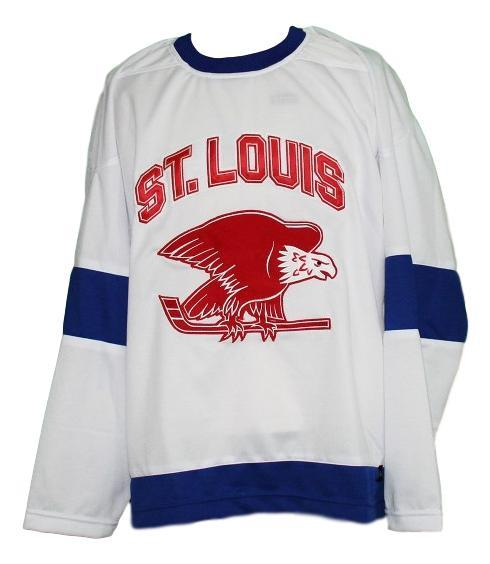 Custom name   st louis eagles retro hockey jersey white   1
