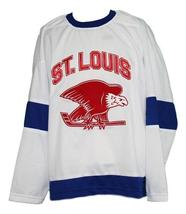 Any Name Number St Louis Eagles Retro Hockey Jersey White Any Size image 1
