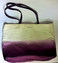 Calvin Klein Canvas Tote Purse Purple Ombre  - $8.25