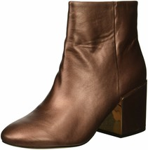 Kenneth Cole New York Women's Reeve 2 Block Heel Bootie Ankle Boot 6.5 Copper - $66.11