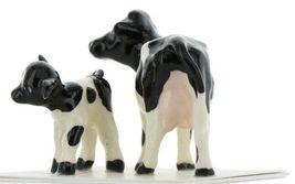 Hagen Renaker Miniature Holstein Cow and Calf Ceramic Figurine Set image 5