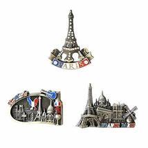 Set of 3 Commemorative Journey Alloy Refrigerator Magnets, Paris