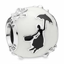 PANDORA Disney Mary Poppins Silhouette Charm White Black Enamel #797510ENMX - $24.94