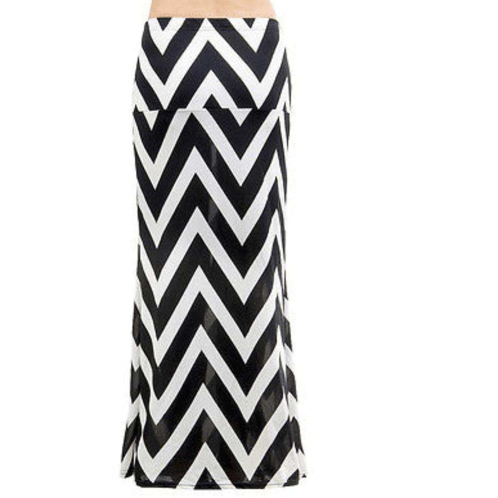 Sexy High Waist Boho Stripe Maxi Skirts
