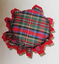 Red Christmas Plaid Jar Cover Bonnets ,Regular Mason canning jar,Set of 2 - $7.00