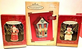 (3) Hallmark Keepsakes, New Home, Santas Hidden Surprise, Hinged Box - $22.76
