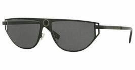 Versace Sunglasses VE2213 100987 57mm Matte Black / Grey Lens - $102.99