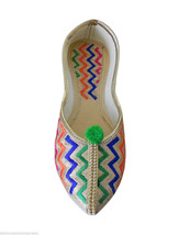 Women Shoes Jutti Indian Handmade Mojari Khussa Pointy Flats US 6.5 - $24.99