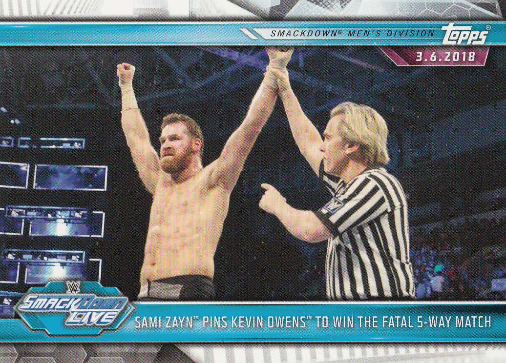 Sami Zayn 2019 Topps WWE Road To Wrestlemania Card #88