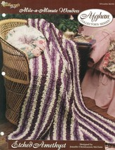 Etched Amethyst Mile a Minute Afghan Pattern The Needlecraft Shop 1996 TNS - $3.46
