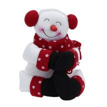 (as show)Red Wine Bottle Cover Bags Hug Santa Claus Snowman Dinner Table... - $18.00