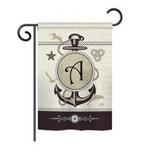 "Nautical A Initial - 13"" x 18.5"" Impressions Garden Flag - G180183 - $19.97"