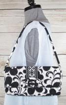 Vera Bradley Shoulder Bag Convertible Clutch Purse Day & Night Black White  - $554,95 MXN