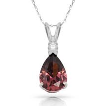 3.05 CT Alexandrite Pear Shape 2 Stone Gemstone Pendant & Necklace 14K W... - $147.51