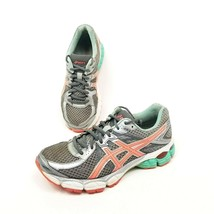 Asics Gel Flux 2 Gray Mint Green Coral Womens Size 8 Running Shoes T568N... - $21.03