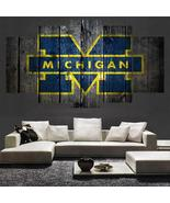 Michigan Wolverines Wall Art Painting Canvas Home Decor Poster Print - $30.00+