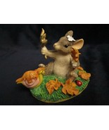 MAXINE'S LEAF COLLECTION Charming Tails FIGURE mouse Autumn Leaves snail - $19.99