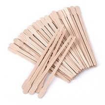 400 Packs Wax Spatulas Whaline Small Wooden Waxing Applicator Sticks Face & Eyeb image 1