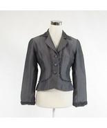 Gray 100% silk KAY UNGER long sleeve blazer jacket 4 - $54.99