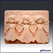 egbhouse, 2D, Soap and Candle Mold, plaster mold – Believe in our Strength - $26.93