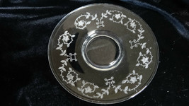 Vintage Fostoria Glass Etched Flowers Crystal Saucers - $60.00