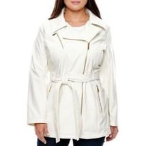 New Avanti Women's Softshell Moto Jacket  - Ivory - Size L - Free Shipping - $50.00