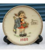 """Goebel Hummel Annual Plate Hand Painted 1980 School Girl Vintage 7 3/4"""" - $14.99"""
